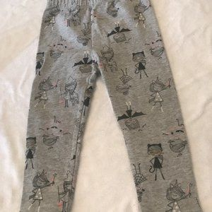Baby gap leggings 2t 2 cats bats pants glittery